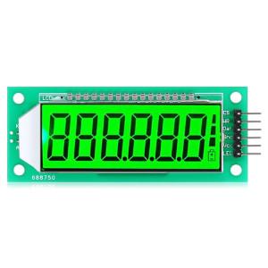 LDTR WG0101 2,4 pouces 6 chiffres 7 segments LCD Display Module pour Arduino, écran rétro-éclairage de l'écran Couleur: vert SL99321851-20