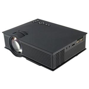Projecteur LED numérique HD 800 x 480 avec commande à distance UC46 1200, télécommande USB, support USB / SD / VGA / HDMI (noir) SH028B1679-20