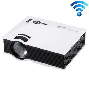 Projecteur numérique LED HD 800 x 480 avec commande à distance UC46 1200, télécommande USB, support USB / SD / VGA / HDMI (blanc) SH028W853-20