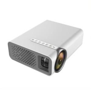 YG520 Projecteur LCD HD 1800 Lumens, Haut-parleur intégré, Disque Can Read U, Disque dur portable, Carte SD, DVD de connexion AV, Décodeur. (Blanc) SH043W851-20