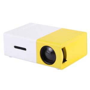 YG-300 0.8-2M 24-60 pouces Projecteur LED 400-600 Lumens HD Home Cinéma avec câble vidéo et télécommande 3 en 1, taille: 12,6 x 8,6 x 4,6 cm, prise UE SH02001845-20