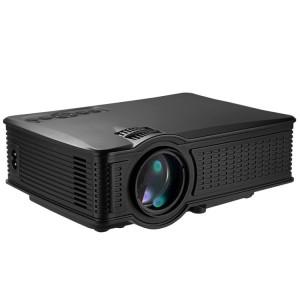 Projecteur LED LY-50 1800 Lumens 1280x800 Home Cinéma avec télécommande, prise en charge AV & USB & VGA & HDMI (Noir) SH929B392-20
