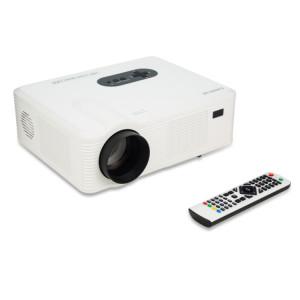 Projecteur LED de cinéma maison CL720 3000LM 1280x800 avec télécommande, prise en charge HDMI, VGA, YPbPr, vidéo, audio, TV, interfaces USB (blanc) SH357W1961-20
