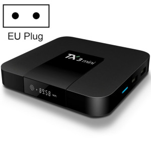 TX3 Mini 4K * 2K affichage HD Smart TV BOX Player avec télécommande, Android 7.1 OS Amlogic S905W jusqu'à 2,0 GHz, Quad core ARM Cortex-A53, RAM: 2 Go DDR3, ROM: 16 Go, Prise en charge WiFi & TF & AV In & SH354B949-20