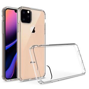 Coque de protection en TPU + acrylique anti-rayures pour iPhone 11 Pro Max (Transparent) SH201A1411-20