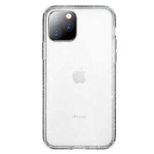 ROCK Shiny Series Coque de protection antichoc TPU + PC pour iPhone 11 Pro Max (Argent transparent) SR003A1547-20
