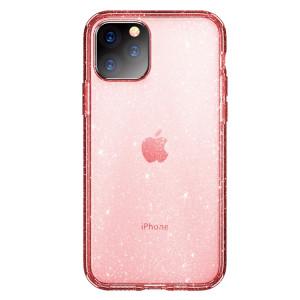 ROCK Shiny Series Coque de protection antichoc TPU + PC pour iPhone 11 Pro Max (rose transparent) SR003B52-20