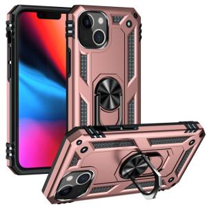 Étui de protection TPU + PC antichoc avec support rotatif à 360 degrés pour iPhone 13 (or rose) SH802E831-20