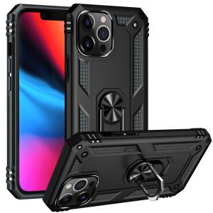 Étui de protection TPU + TPU + PC avec support rotatif à 360 degrés pour iPhone 13 Pro (Noir) SH803A904-20