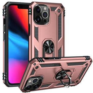 Étui de protection TPU + TPU + PC avec porte tournant à 360 degrés pour iPhone 13 Pro (or rose) SH803E518-20