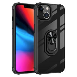 TPU ultra-choc transparent TPU + Cas de protection acrylique avec porte-bague pour iPhone 13 (noir) SH702A1329-20