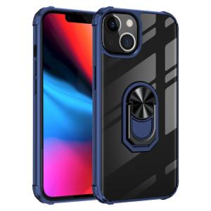 TPU ultra-antichoc transparent TPU + Cas de protection acrylique avec porte-bague pour iPhone 13 Pro (Bleu) SH703C612-20