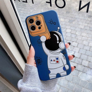 Spaceman Binoculars Shockproof Protective Case For iPhone 13 Pro Max(Blue) SH004B1909-20
