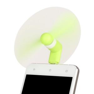 Mode Mini Port USB Mini Ventilateur avec deux feuilles, pour Android Mobile Phone avec fonction OTG et Micro Port USB (vert) SM002G1424-20