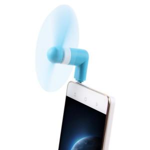 Mode USB 3.1 Type-C Mini ventilateur avec deux feuilles, pour téléphone portable avec fonction OTG (bleu) SM600L608-20