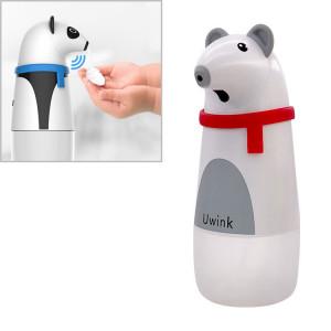 Uwink Distributeur de savon en mousse à induction automatique en plastique ABS de bureau de style dessin animé animal mignon (ours polaire) SH811B737-20