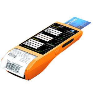 PDA-5501 Ecran IPS multi-fonctions de 5,5 pouces IP65 Protection Terminal intelligent tout-en-un, imprimante thermique intégrée, micro & haut-parleur, support WiFi & Bluetooth & GPS (orange) SH234E154-20