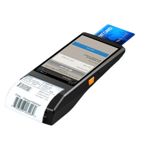 PDA-5501 Écran IPS multi-fonction de 5,5 pouces IP65 Protection Terminal intelligent tout-en-un, imprimante et micro à ligne thermique intégrée et haut-parleur, support WiFi & Bluetooth et GPS (gris) SH234H1903-20