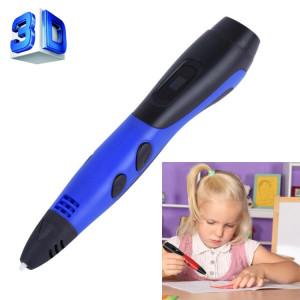 Gene 6e ABS / PLA Filament Enfants Dessin 3D Stylo D'impression Avec Écran LCD (Bleu + Noir) SH210L615-20