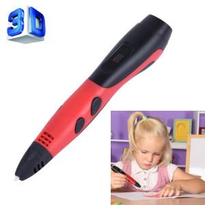 Gene 6e ABS / PLA Filament Enfants Dessin 3D Stylo D'impression Avec Écran LCD (Rouge + Noir) SH210R1734-20