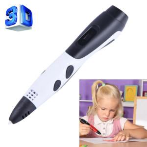 Gene 6ème ABS / PLA Filament Enfants Dessin 3D Stylo D'impression Avec Écran LCD (Blanc + Noir) SH210W131-20