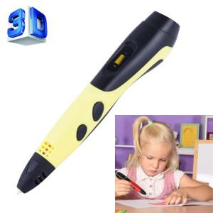 Gene 6ème ABS / PLA Filament Enfants Dessin 3D Stylo D'impression Avec Écran LCD (Jaune + Noir) SH210Y1629-20