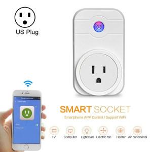 Alexa SWA1 10A Home Automation Sans Fil Smart WiFi Socket, Soutien Smartphone Télécommande et Interrupteur de Minuterie, US Plug SA235D724-20