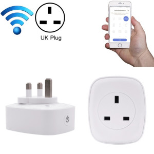 Meross MSS210 Télécommande WiFi Smart Power Socket Fonctionne avec Amazon Alexa & Assistant Google, AC 100-240V, prise UK (Blanc) SM02WC121-20