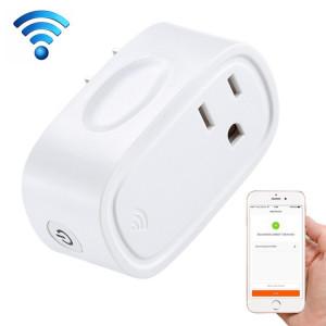 JH-G09U 15A 2.4GHz Contrôle WiFi Hubless Smart Home Prise de courant Fonctionne avec Alexa et Google Home, AC 100-240 V, US Plug (Blanc) SJ787W1054-20