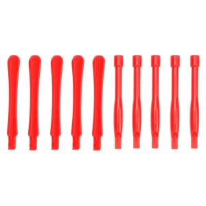 10 PCS Spudgers outil de réparation de téléphone portable (5 PCS rond + 5 PCS Square) (rouge) S1105R1164-20