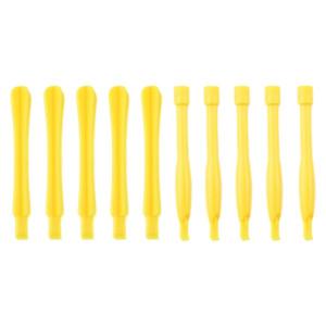 10 PCS Spudgers outil de réparation de téléphone portable (5 PCS rond + 5 PCS Square) (jaune) S1105Y1672-20