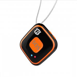 REACHFAR V28 Collier Style GSM Mini LBS WiFi AGPS Tracker SOS Communicateur (Noir) SR001B1288-20