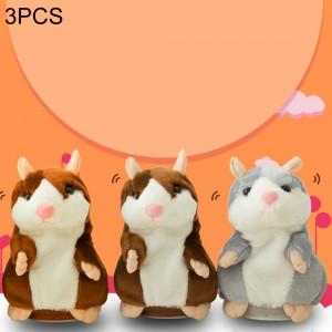 3 PCS jouets éducatifs Hamster de dessin animé mignon deviennent enregistrement sonore vole enfants cadeau d'anniversaire, livraison de couleur aléatoire, taille: 15 * 8 * 8 cm SH20771016-20