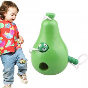 Les jouets en bois enfiler des chenilles mangent des jouets en bois éducatifs drôles de nouveauté SH582A1047-20