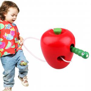 Les jouets en bois enfilant les chenilles mangent la nouveauté Apple les jouets en bois éducatifs drôles SH582B1600-20
