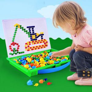 296 en 1 / ensemble de la petite enfance éducatif créatif bricolage bureau champignon ongles jeu de puzzle jouet SH45871276-20