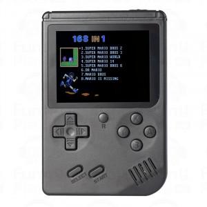 Console de jeu mini-console rétro RS-6A, 3,0 pouces, 8 bits, couleur, 168 jeux Joueur de jeu rétro FC (noir) SH693B437-20