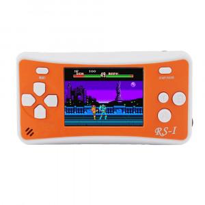 Console de jeu portative rétro RS-1, écran à cristaux liquides True Color 2,5 pouces 8 pouces, intégré dans 152 types de jeux (orange) SH695E108-20