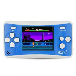Console de jeu portative rétro RS-1, écran à cristaux liquides True Color 2,5 pouces 8 pouces, intégré dans 152 types de jeux (bleu) SH695L930-20