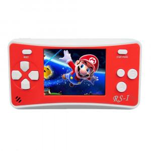 Console de jeu portable portable RS-1 Retro, écran à cristaux liquides True Color 2,5 pouces 8 pouces, intégré dans 152 types de jeux (rouge) SH695R1308-20