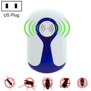 Répulsif ultrasonique électronique de ravageur d'insecte de rat de 2 PCS 3W avec la lumière, prise des USA, CA 90-240V SR015D1775-20
