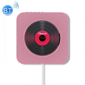 KC-808 Lecteur CD Bluetooth 4.2 + EDR à montage mural avec télécommande, support FM (rose) SH222F96-20