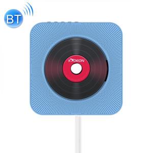 KC-808 Lecteur CD Bluetooth 4.2 + EDR à montage mural avec télécommande, support FM (bleu) SH222L948-20
