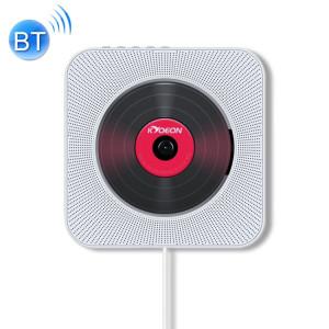 KC-808 Lecteur CD Bluetooth 4.2 + EDR à montage mural avec télécommande, support FM (blanc) SH222W1511-20