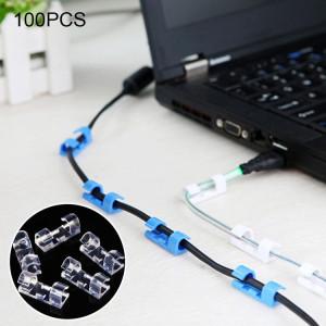 Organisateur fixe de fil d'agrafe de câble de 100 PCS avec la livraison aléatoire de couleur adhésive S11183393-20