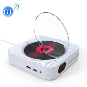 KC-606 Lecteur DVD Bluetooth 4.2 + EDR à montage mural avec télécommande, support FM (blanc) SH669W1890-20