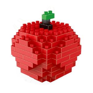Lego a assemblé des jouets en plastique de bloc de construction de particules de diamant de modèle d'Apple SH72121722-20