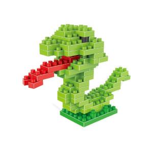 Modèle assemblé Lego de blocs de construction en particules de diamant en plastique avec motif de serpent SH72131241-20