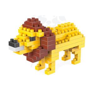 Lion assemblé jouets en plastique de bloc de construction de particules de diamant de modèle de lion SH7214349-20