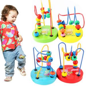Enfants de bébé éducatifs en bois autour de perles jouets jouet intelligence infantile enfant en bas âge SH45781116-20